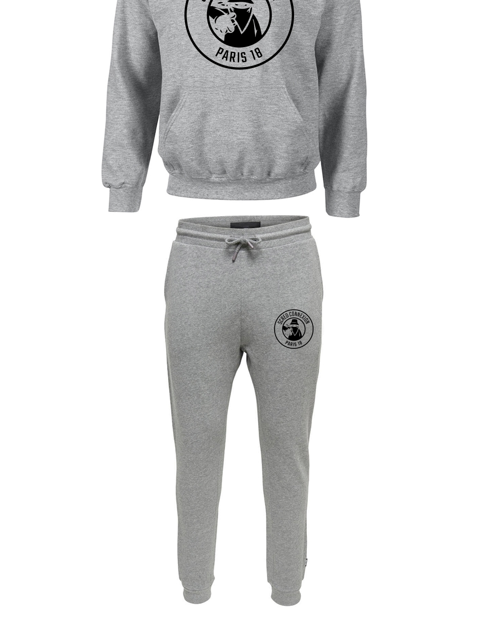 Pack Sweat + Jogg Classico 18 Gris