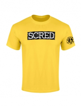 TShirt Scred Typo jaune Camo