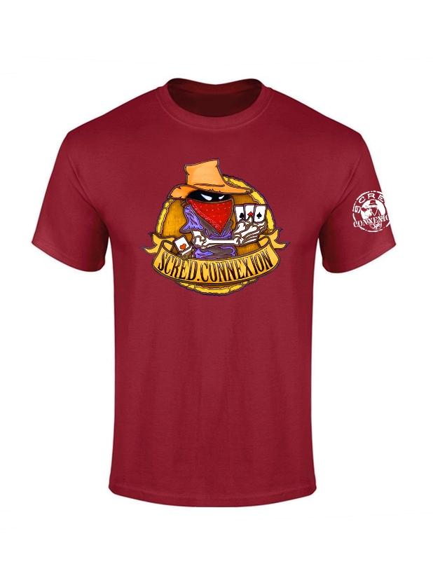 Tshirt Bordeaux Poker Color