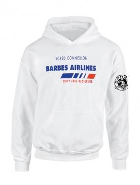 Sweat Capuche Blanc Barbès Airlines