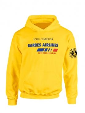 Sweat Capuche Jaune Barbès Airlines