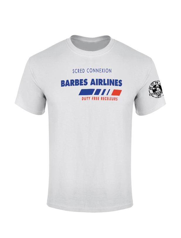 TShirt Blanc Barbès Airlines