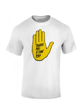T Shirt Chimiste - Touche pas a mon rap blanc
