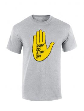 T Shirt Chimiste - Touche pas a mon rap gris