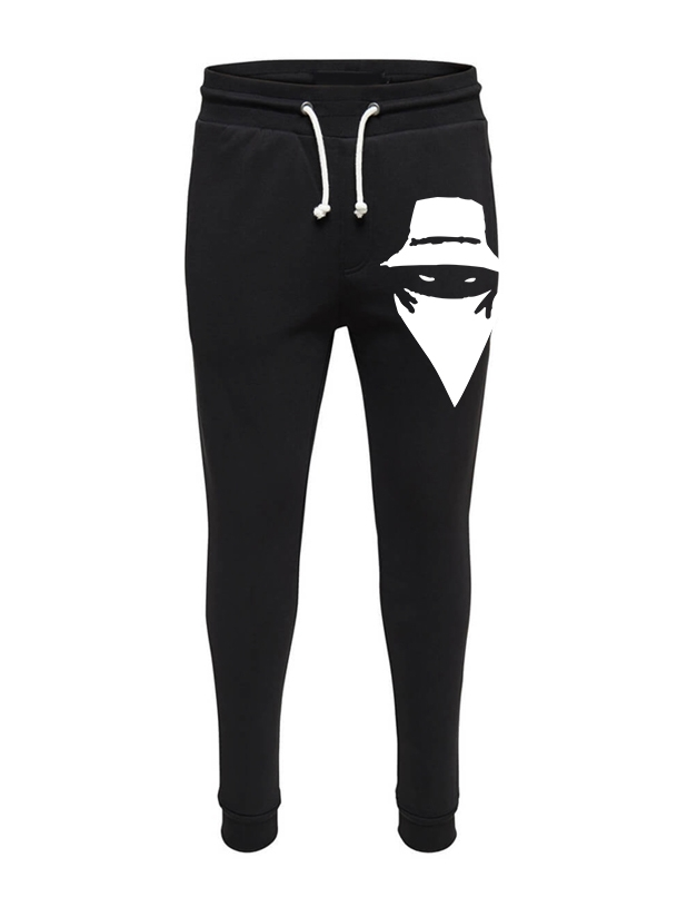 Pantalon de Jogging Noir Grand visage