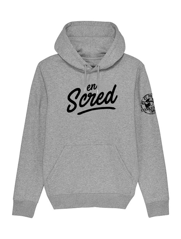 Sweat Capuche Gris En Scred