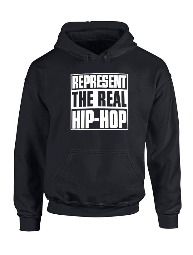 Sweat Capuche Represent Real HH Noir