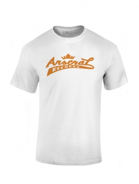 "T-Shirt la cliqua ""Arsenal records"" Blanc"