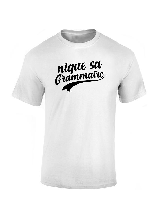 T-shirt Amadeus Grammaire Blanc