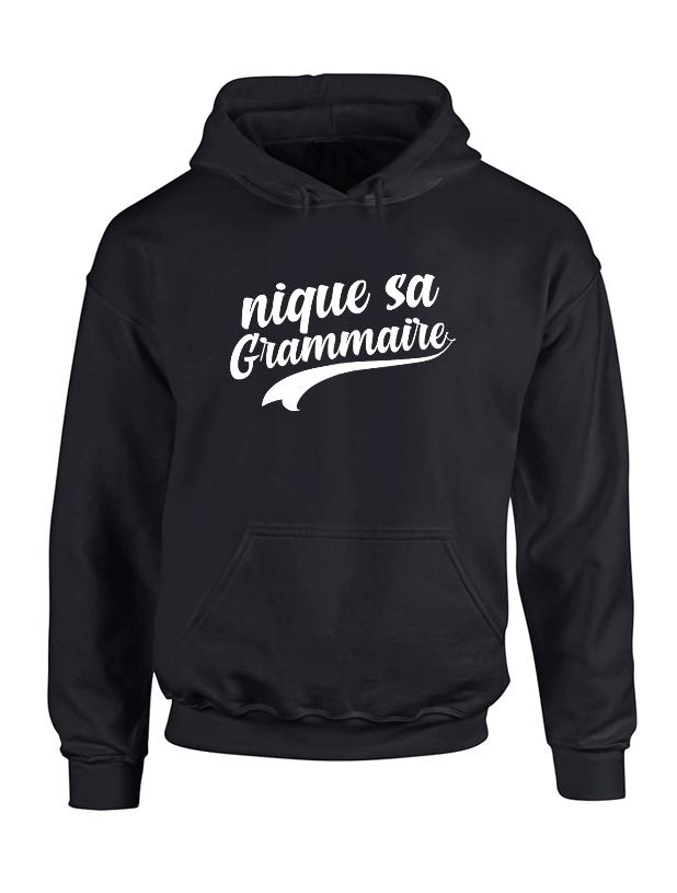 Sweat Capuche Amadeus Grammaire Noir