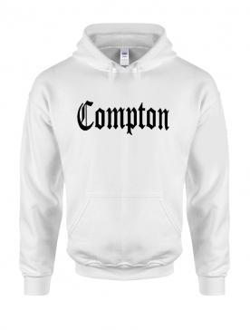 Sweat Capuche Blanc Compton