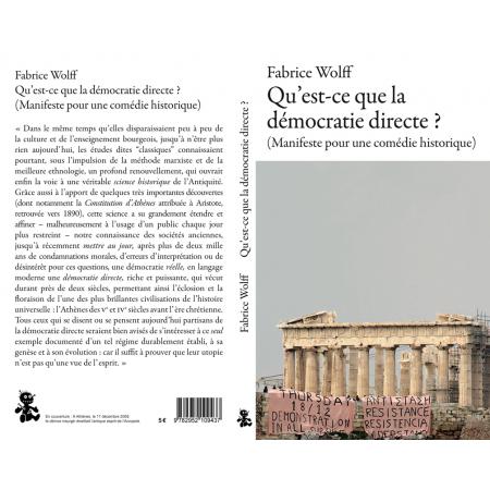 """Livre Fabrice Wolff - """"Qu'est-ce que la démocratie directe ?"""""""