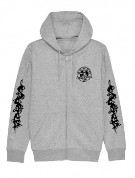 Sweat Zippé gris Flammes Scred x TRN