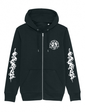 Sweat Zippé noir Flammes Scred x TRN