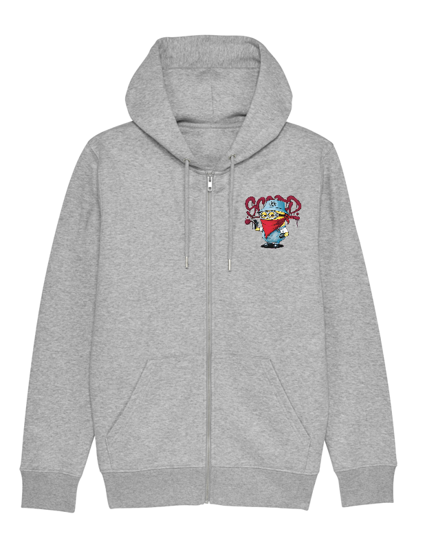 Sweat Zip enfant Minion gris