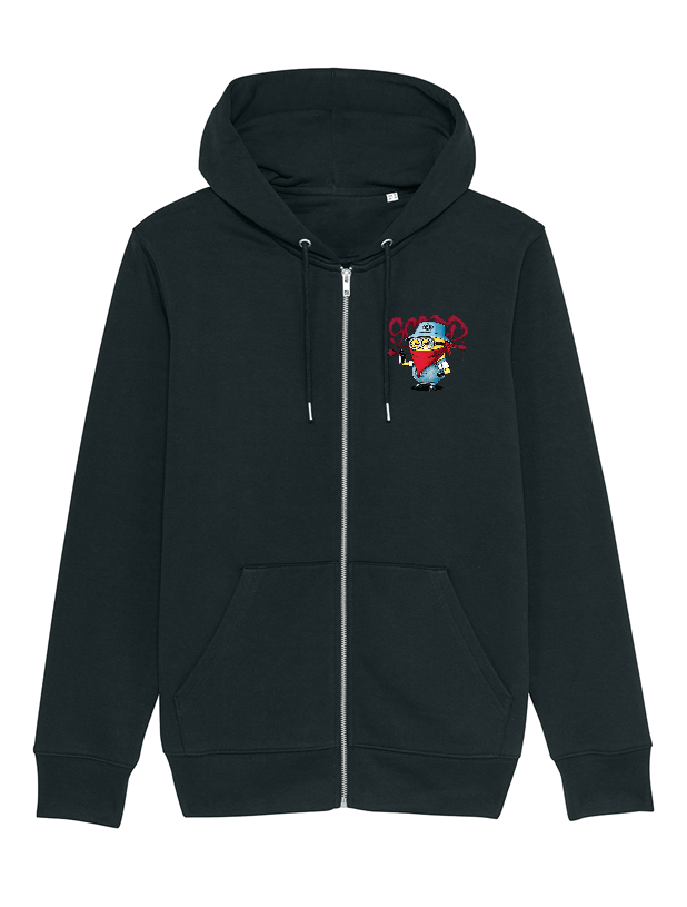 Sweat Zip enfant Minion noir
