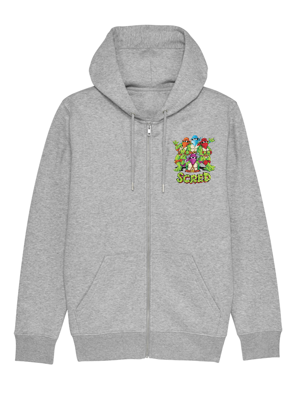 Sweat Zip enfant Tortue gris
