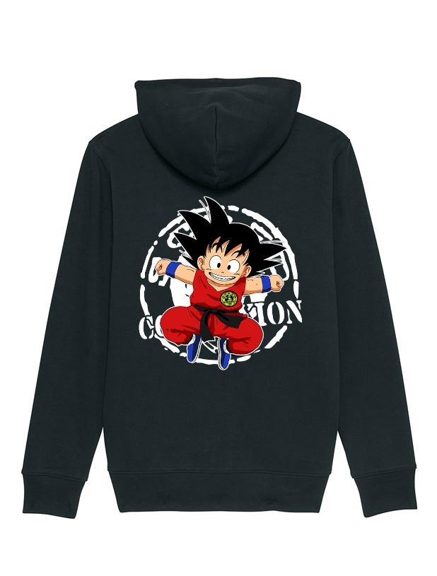 Sweat Zip enfant Goku noir