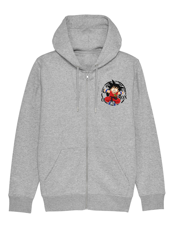 Sweat Zip enfant Goku gris