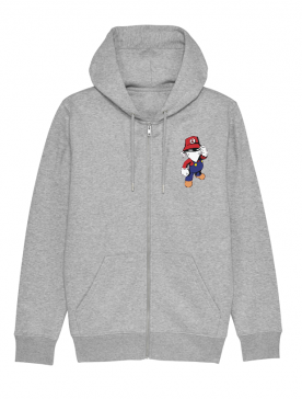 Sweat Zip enfant Mario gris