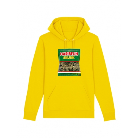 sweat capuche - Haribeuh jaune