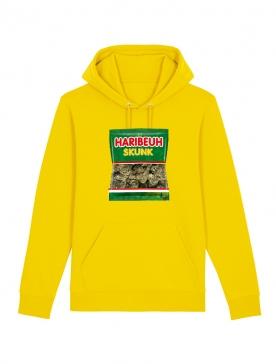 sweat capuche Amadeus - Haribeuh jaune