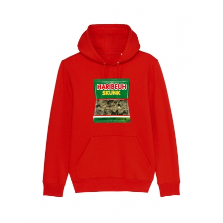 sweat capuche - Haribeuh rouge
