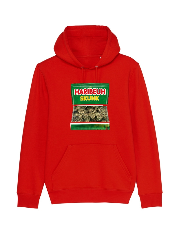 sweat capuche Amadeus - Haribeuh rouge