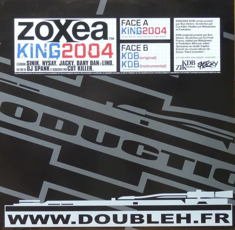 """Maxi Vinyle """"Zoxea - King 2004"""""""