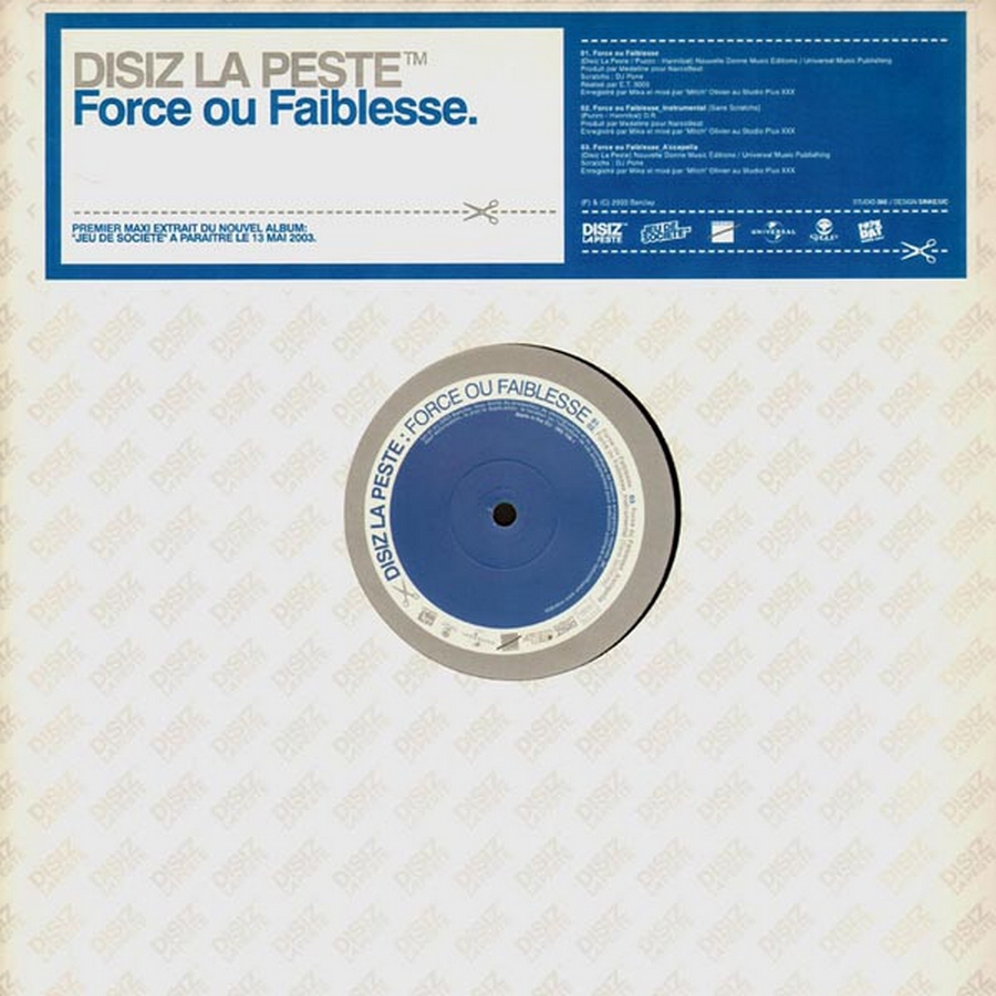 "Maxi Vinyle ""Disiz la peste - Force ou Faiblesse / Rap Music"""