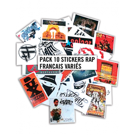 Pack 10 Stickers Rap Francais Variés