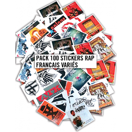Pack 100 Stickers Rap Francais Variés