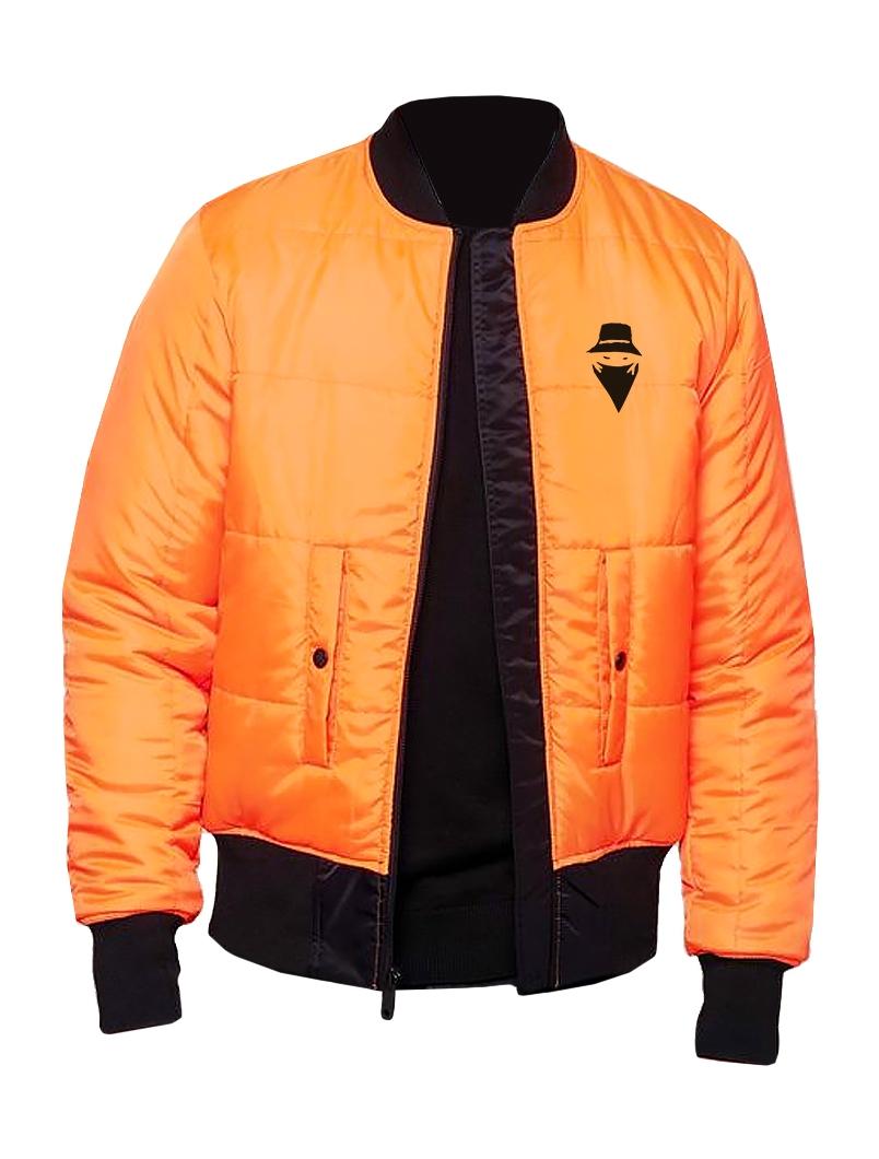 Bombers Réversible Noir & Orange