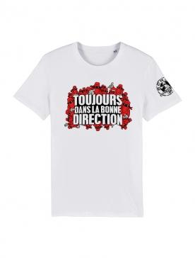 Tshirt Toujours Dans la bonne direction Blanc