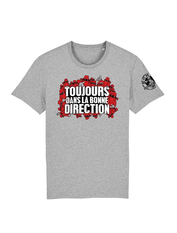 Tshirt Toujours Dans la bonne direction Gris