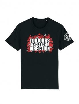 Tshirt Toujours Dans la bonne direction Noir