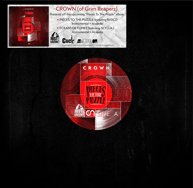 "Maxi vinyle Crown (Grim reaperz) ""Pieces to the puzzle"""