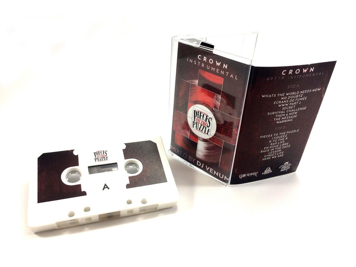 """Album Cassette """"Crown Instrumental - Pièces to the Puzzle - Mixed by Dj Venum"""""""