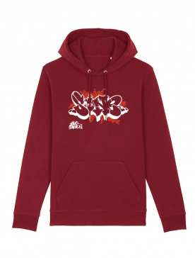 Sweat Capuche S One Bordeaux