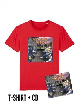 Pack Cd + Tshirt Formez les rangs Rouge