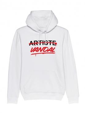Sweat Capuche Artiste Vandal Blanc