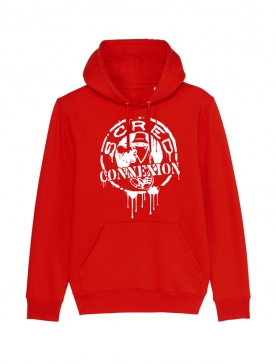 Sweat Capuche Classico Splash Rouge