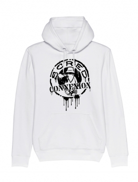 Sweat Capuche Classico Splash Blanc