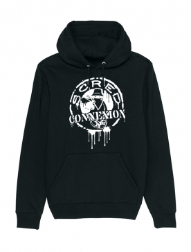 Sweat Capuche Classico Splash Noir