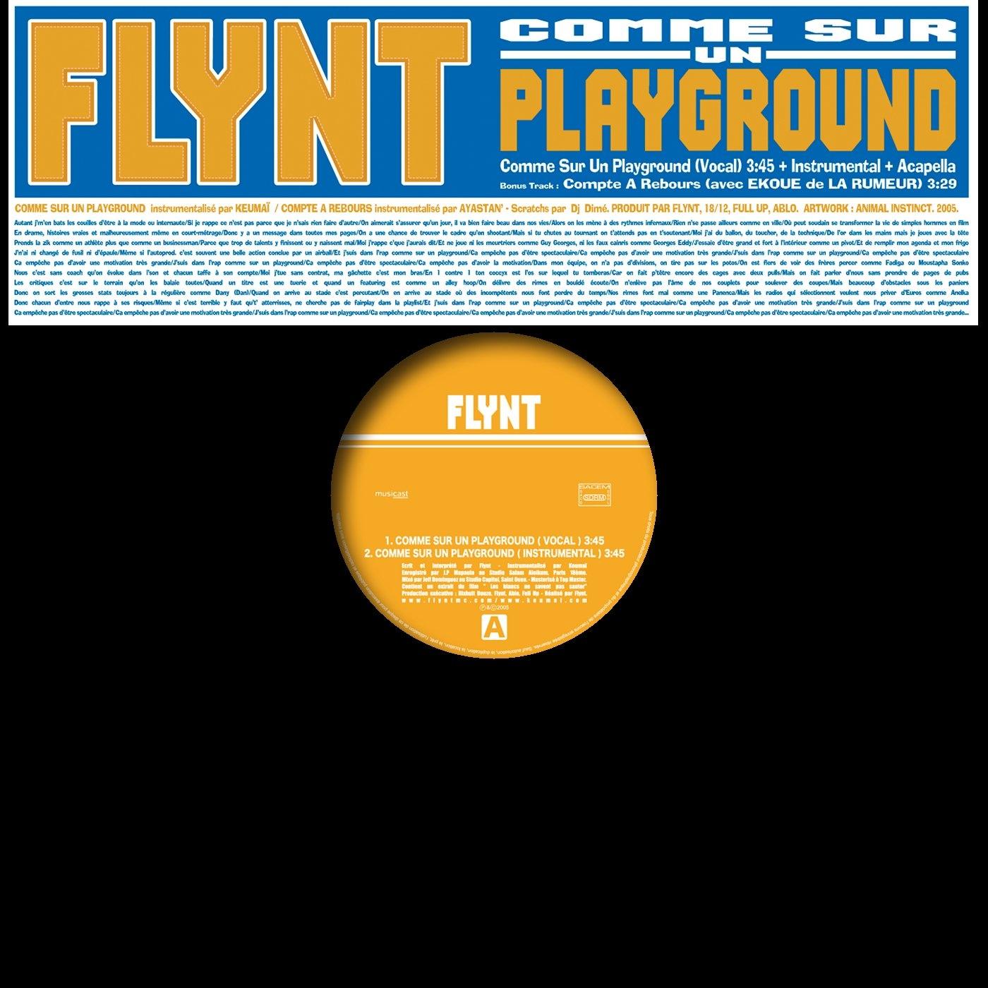 """album vinyle Flynt """"Comme Sur un Playground"""""""